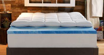 sleep innovations dual layer mattress topper review