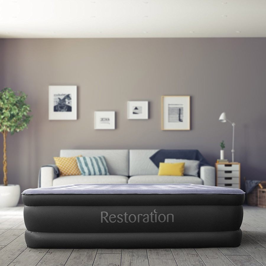 restoration inflatable airbed down comforter review
