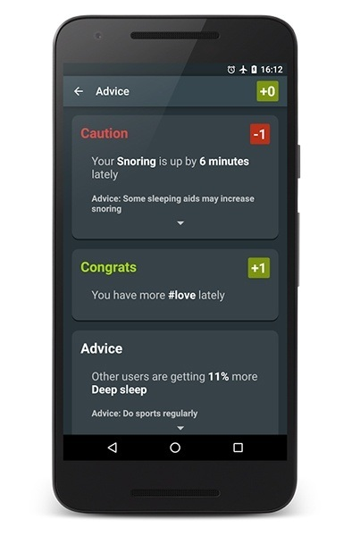 Snoring app for Android