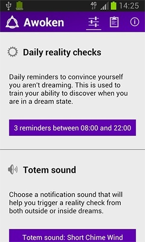 Awoken app review reality check feature