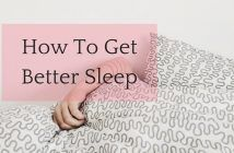 how to get a better night sleep