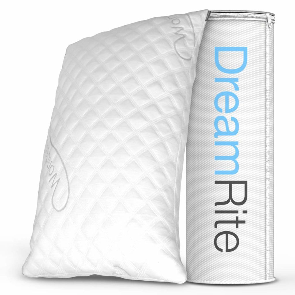 dreamrite shredded hypoallergenic memory foam pillow